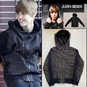 7 For All Mankind Bieber Edge Jean Hoodie Jacket M